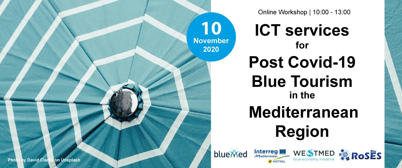 Online Workshop: ICT services for post Covid-19 Blue Tourism in the Mediterranean region